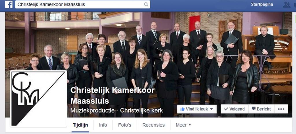 facebook pagina christelijk kamerkoor maassluis